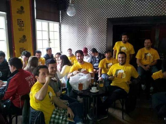 Karena amarela concentrados en A Leria preparando el partido contra el Peixe