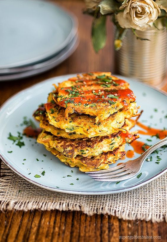Spicy vegetable pancakes and a Loaf giveaway | supergolden bakes