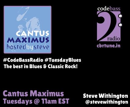 http://cbrtune.in - TUESDAY BLUES happening now. A Cantus Maximus shuffle surrounds a BRAND NEW episode at 11am EST / 8am PST. Join us!