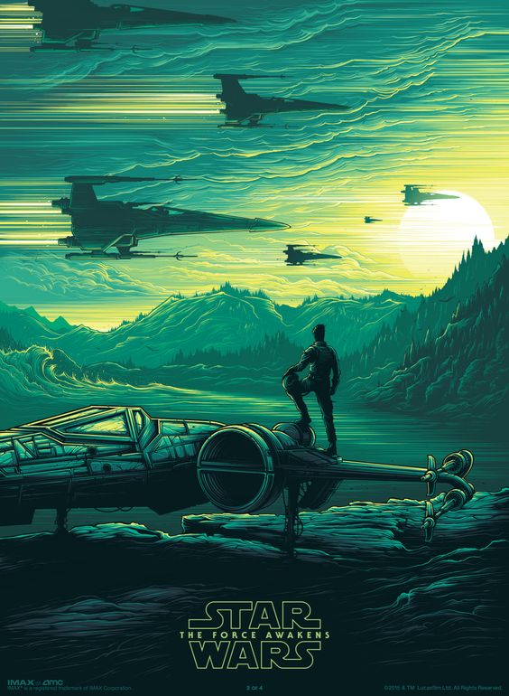 Star Wars : The Force Awakens  Official IMAX Posters by Dan Mumford