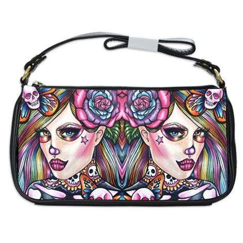 Day of the Dead Purse Bag dia de los muertos tattoo art  rockabilly Skullerflies Lisa Frank