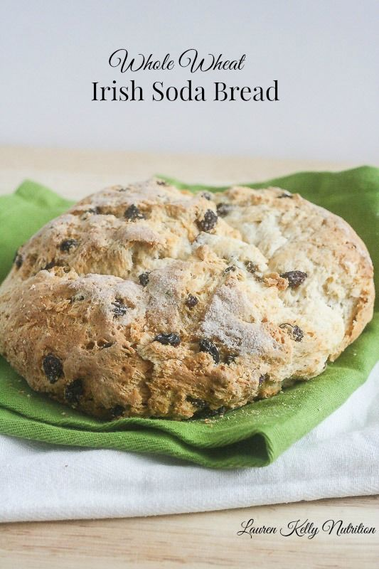 Whole Wheat Irish Soda Bread. http://laurenkellynutrition.com/whole ...