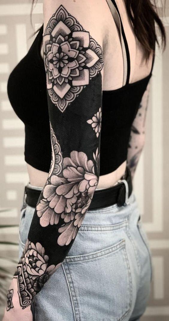 Pattern Tattoos Men Pattern Tattoos Muster Tattoos Manner Motif Tatouages Hommes Patron Tatuajes Ho In 2020 Tattoos Solid Black Tattoo Best Sleeve Tattoos