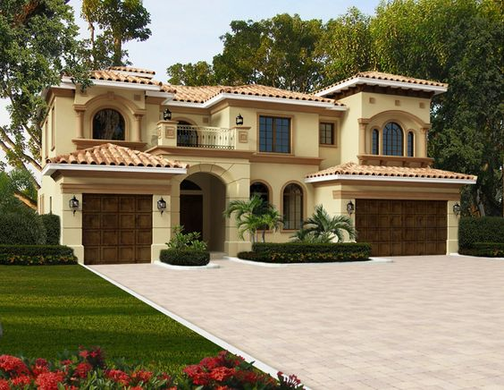 House plan model 4200 0276 this two story mediterranean for Two story mediterranean house plans