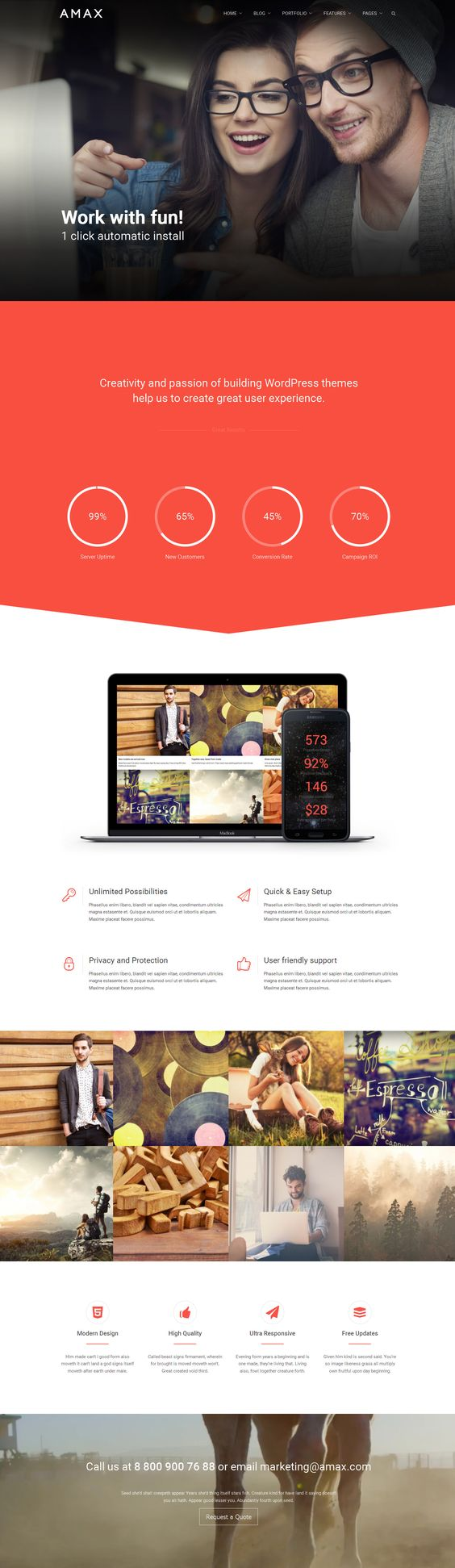 Amax — Responsive Multi-Purpose WordPress Theme