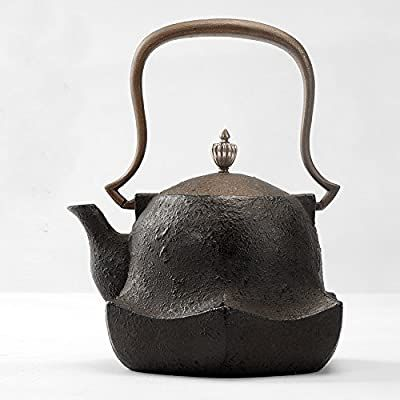 Quot The Buddha Quot Chinese Japanese Style Cast Iron Teapot Food Grade Tetsubin Water Kettle 1 4l In 2020 Cast Iron Tea Pot Tea Pots Teapots Unique