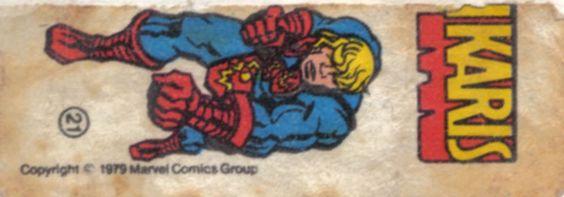 Ikaris - Essa é uma coleção de 36 figurinhas dos Super-Heróis da Marvel, do chiclete Ping-Pong, lançadas em 1979, as quais colecionei todas e colei na cômoda do quarto, como todo mundo fez.