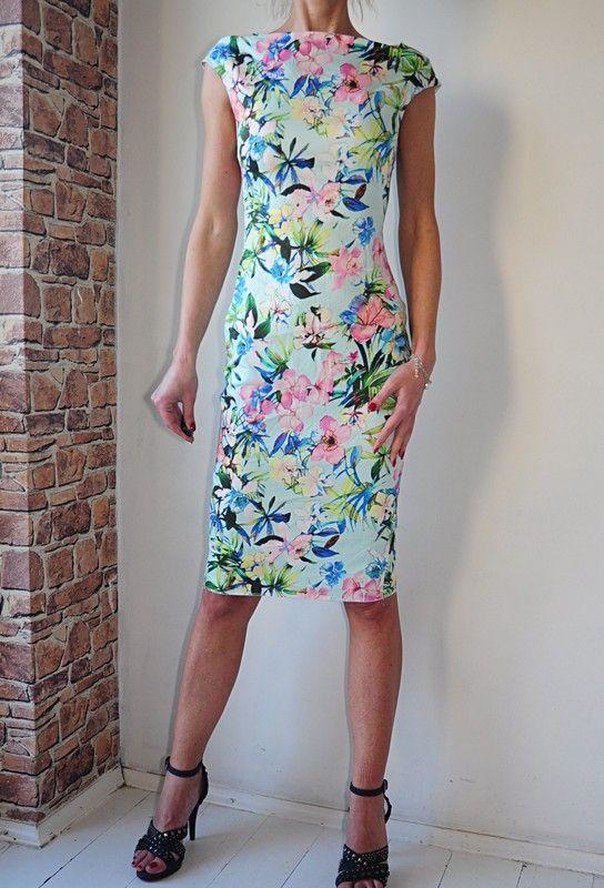 Zara Sukienka Kwiaty Zielona Olowkowa 34 Vinted Dresses Lily Pulitzer Dress Fashion