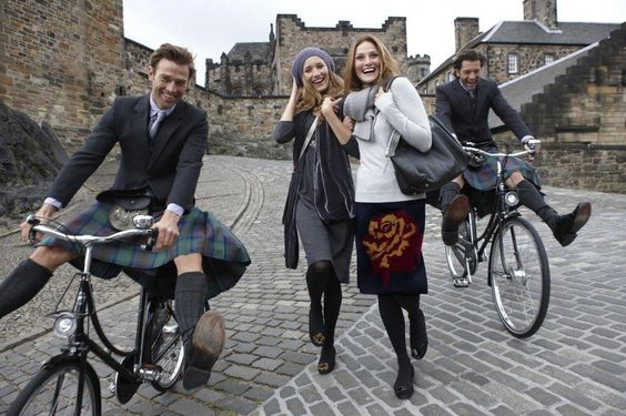 Kilts on bicycles!: