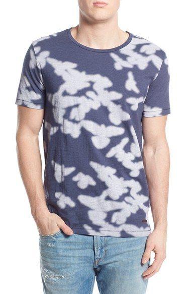 BOSS Orange 'Timperly' Stripe Dyed Crewneck T-Shirt