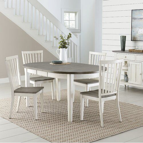 August Grove Coronado Extendable Dining Table Wayfair White Round Dining Table Dining Table In Kitchen Dining Table