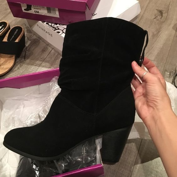 Rampage black faux suede ankle boots new! Brand new in box Rampage Shoes Ankle Boots & Booties