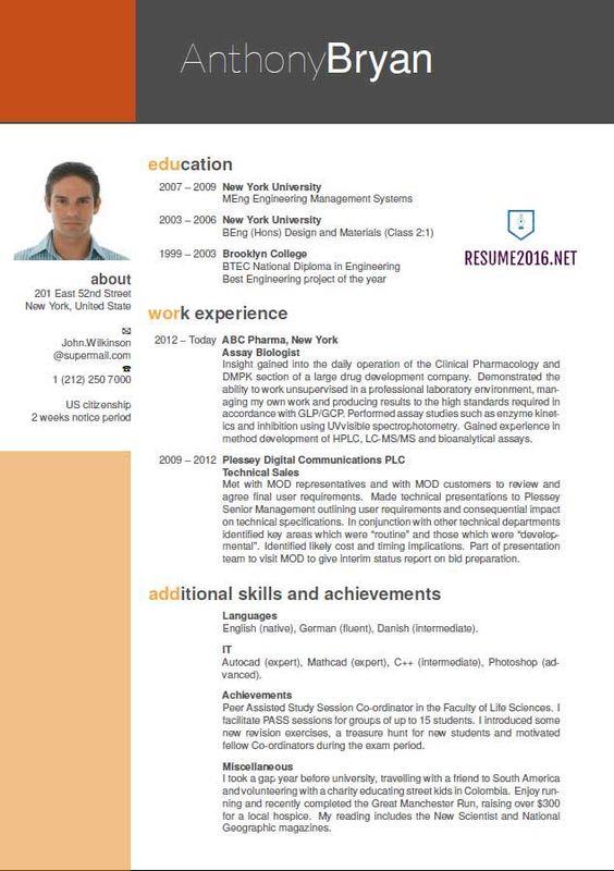best-resume-format-3 Resume Cv Design Pinterest Resume format - digital communications resume