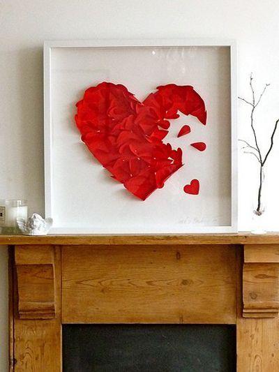quadro de corações colados (presente)