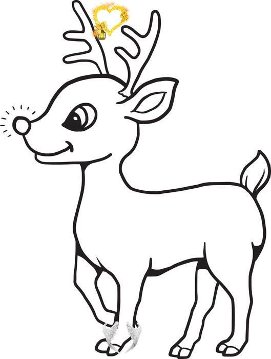 Printable Baby Reindeer Christmas Coloring Page For Kids Baby Reindeer Coloring Page B Rudolph Coloring Pages Christmas Coloring Books Christmas Coloring Pages