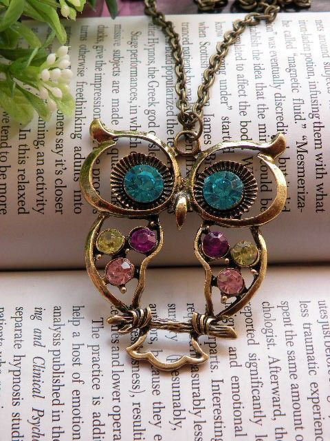 owl: Owl Stuff, Colorful Owl, Little Owls, Owl Pendant, Owl Jewelry, Owls Owls, Owl Obsession, Owl Necklace