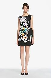DVF paint bomb dress