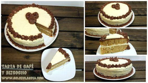 Una genial #tarta de #café y #bizcocho Como hacer una tarta rellena con nuestra receta y vídeo paso a paso. #golosolandia http://www.golosolandia.com/2016/02/tarta-de-cafe-y-bizcocho.html