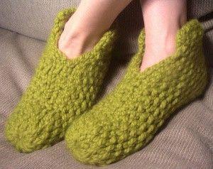"""Loom knit """"footies"""".  Love!"""