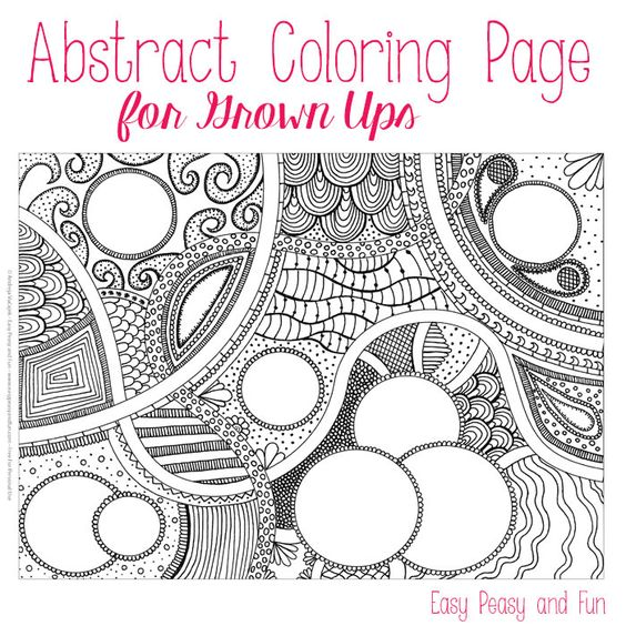 circle abstract coloring pages - photo#17