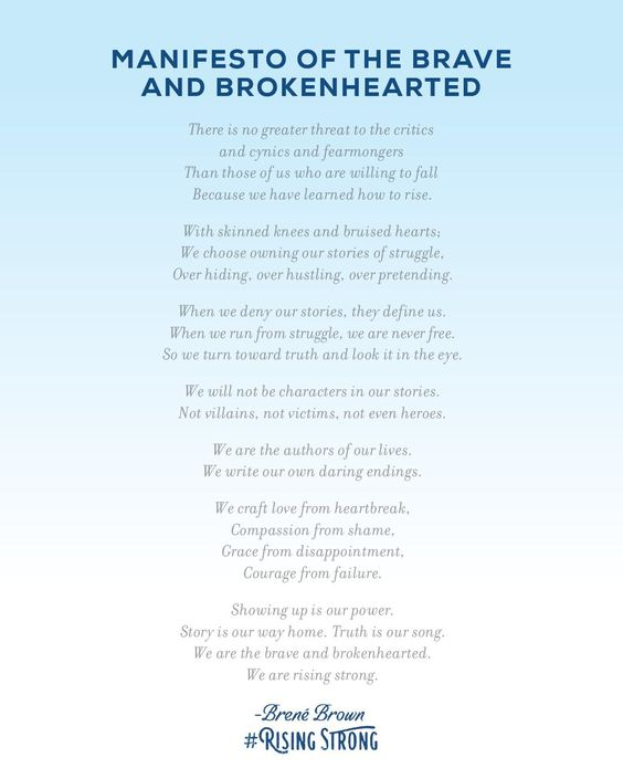 Manifesto of the Brave & Brokenhearted: The Rising Strong, Brene Brown: