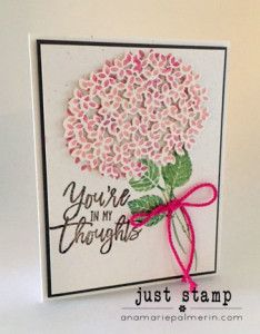 Thoughtful Branches Bundle creates gorgeous Hydrangeas | Stampin Up! | Just Stamp