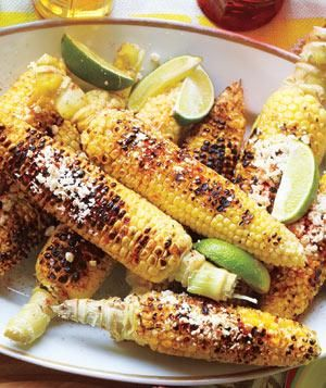 Grilled Corn With Cheese and Lime Recipe