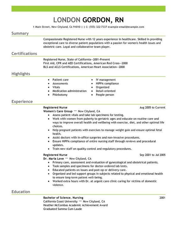 new registered nurse resume sample nurse sample cover letter resumes pinterest registered nurse resume nursing resume and nursing students. Resume Example. Resume CV Cover Letter