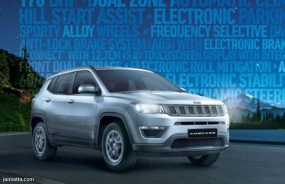 Fiat Chrysler India On Thursday Launched The Sport Plus Variant Of Its Suv Jeep Compass Priced At Rs 15 99 Lak