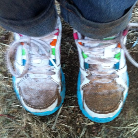 The sign of an active happy child... Let them play outdoors...BTW, This is My Landry's shoes... LOL