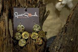 "Gold Shotgun Shell Earrings - 12 GA Winchester Gold ""Joan A"" Diamond Shape Dangle by Spent Rounds Designs; Shotgun Shell Jewelry   Bullet Jewelry   Ammo Jewelry"