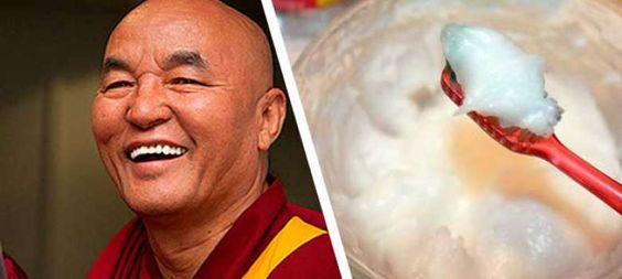 Receta Milenariade los monjes tibetanos: Dientes blancos y fuertes hasta la vejez