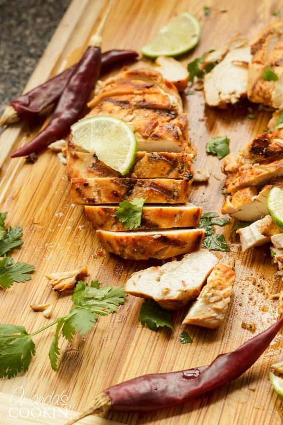 Chile Lime Chicken on Grill