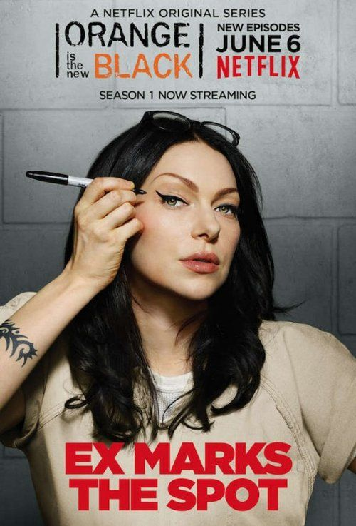 "Orange is the New Black Poster  ""Ex Marks The Spot"" - Serienposter zu Orange is the New Black. Es zeigt Laura Prepon in ihrer Rolle als Alex Vause."