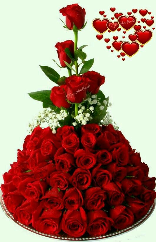 18+ Ramo de rosas rojas con movimiento y brillo inspirations