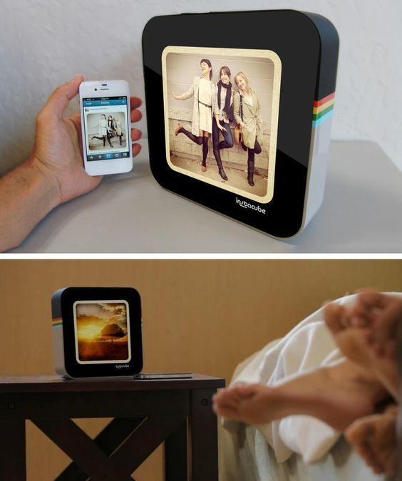 InstaCube Displays Instagram Pics on Your Nightstand
