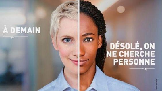 CAMPAGNE GOUVERNEMENTAL.  Nouvelle campagne anti-raciste (ou  Anti-blanc!?) du gouvernement