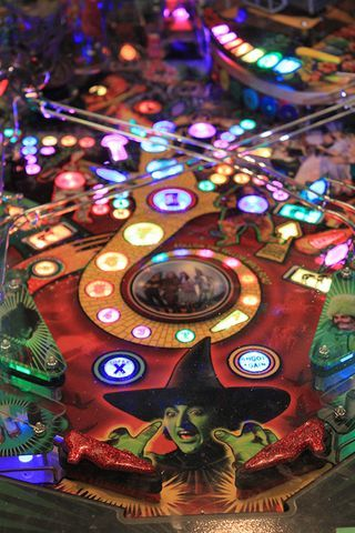 """Wizard of Oz fans, stop by our store for a free game of Oz-themed pinball and then swing by """"American Stories"""" to see the real ruby slippers."""