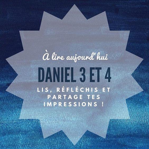 Aujourd'hui lis les chapitres 3 et 4. Qu'as-tu appris?  Pour aller plus loin tu trouveras de courtes méditations sur le livre de #Daniel ici: http://bit.ly/2j2fK7o #5jours1livre #bible #challenge