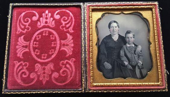 Black Mourning Dress Ribbons Sun Hat Bonnet 1 6 Case Daguerreotype Photo D169…
