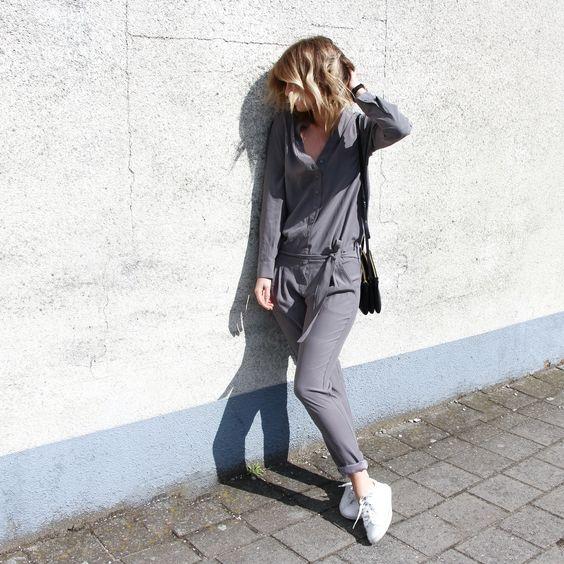 Grey romper : minimal + chic by Damoy