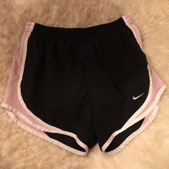 Nike athletic shorts Light pink, black, and white.. Good condition! Nike Shorts