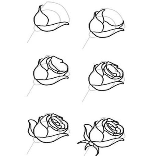 Menakjubkan 26 Gambar Bunga Cantik Draw Cara Menggambar Mawar For Android Apk Download Diy Lukisan Diamond 5d Dengan Ga Di 2020 Sketsa Tutorial Seni Drawing Lessons