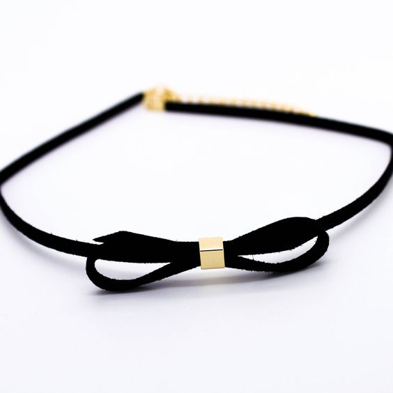 Bow velvet choker necklace: