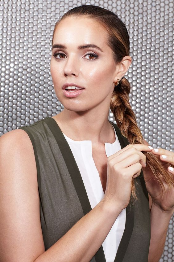 No Time To Blowdry? You Need These 4 Wet-Hair Looks #refinery29  http://www.refinery29.com/how-to-style-wet-hair#slide-15  Take all three ponytails and braid them into a simple three-strand plait, tying it off at the ends....