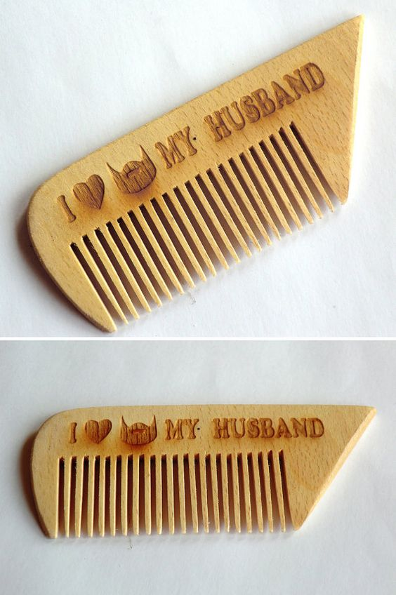 Wooden Comb for beard Hair accessories Gift for от UkrMadeShop