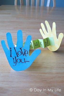 Handmade card - make with children's handprints for grandparents etc
