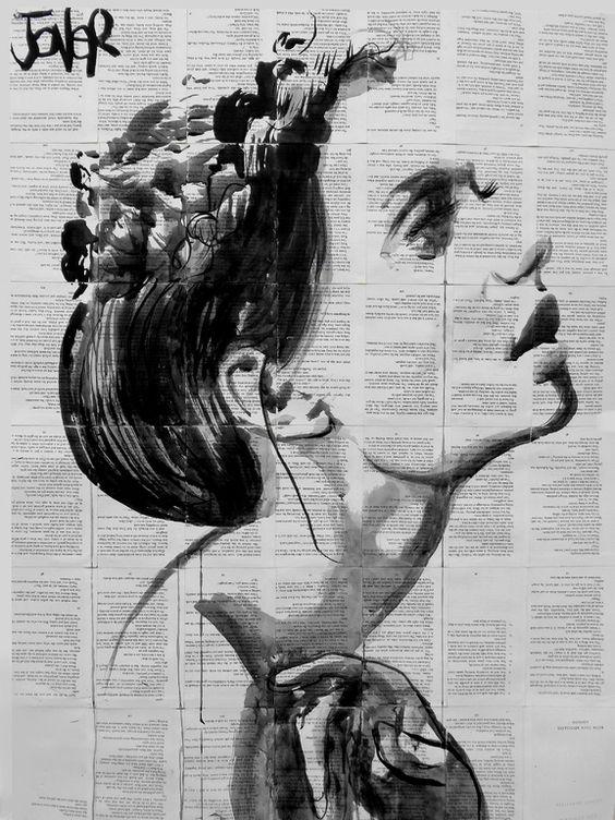 "Saatchi Art Artist: Loui Jover; Ink 2014 Drawing ""inner song"""