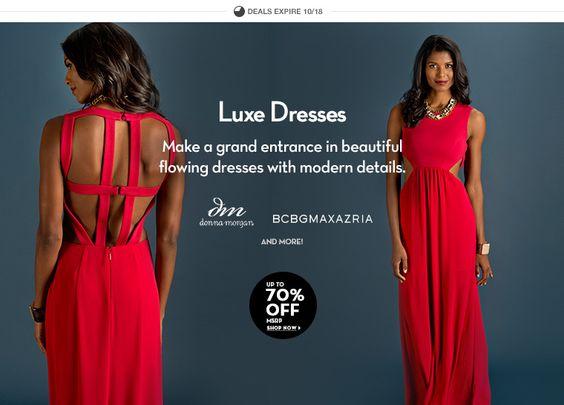 #LuxeDresses #Off #SaleDresses Estos descuentos no los dejes pasar. www.6pm.com