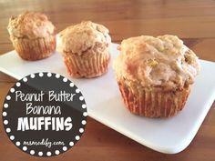 {GF} Peanut Butter Banana Muffins